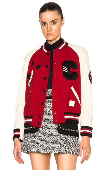 Coach 1941 Essential Varsity Jacket in Red