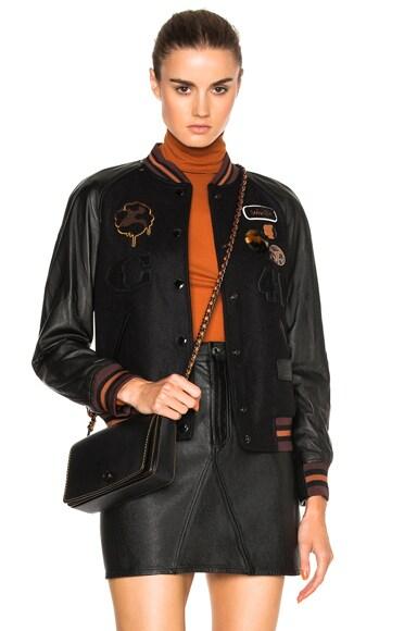 Coach 1941 Classic Varsity Jacket in Black