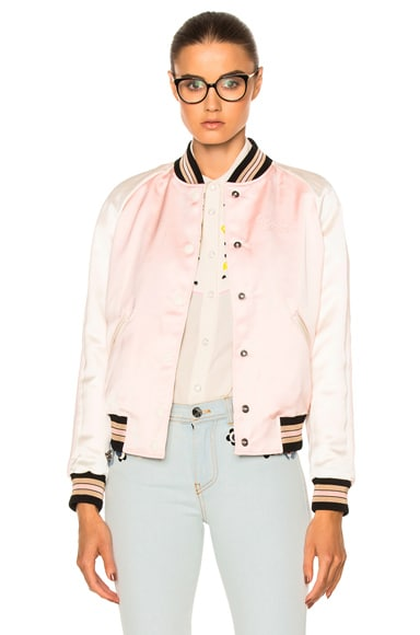 Coach 1941 Reversible Varsity Jacket in Pink Multi