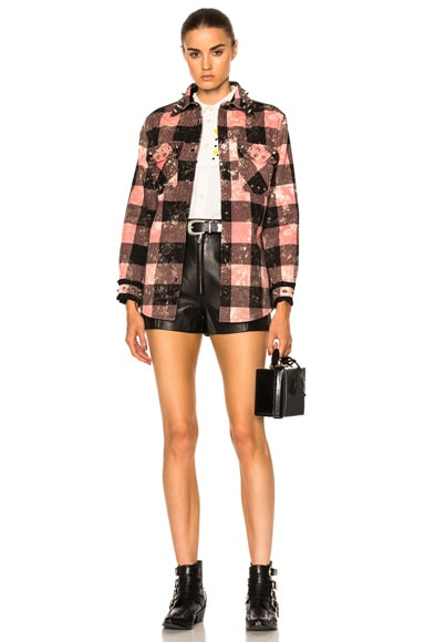 Studded Plaid Top