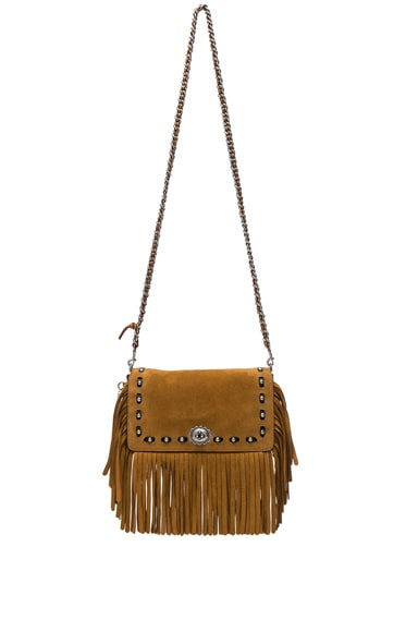 Coach 1941 Suede Fringe Dinky Bag in Oak