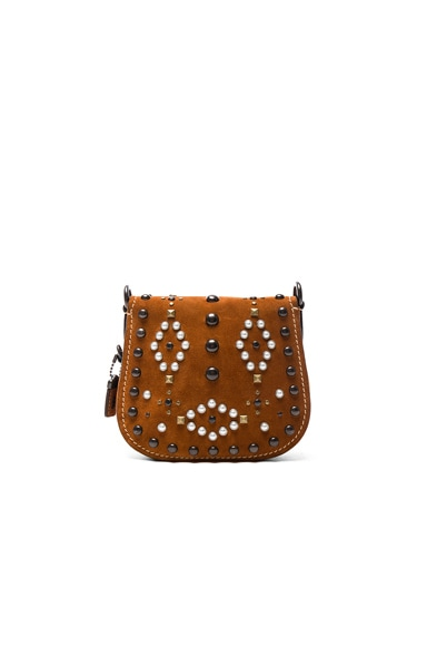 Suede Western Rivets Saddle Bag 17
