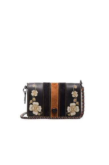 Coach 1941 Western Embroidery Dinky 24 Bag in Black
