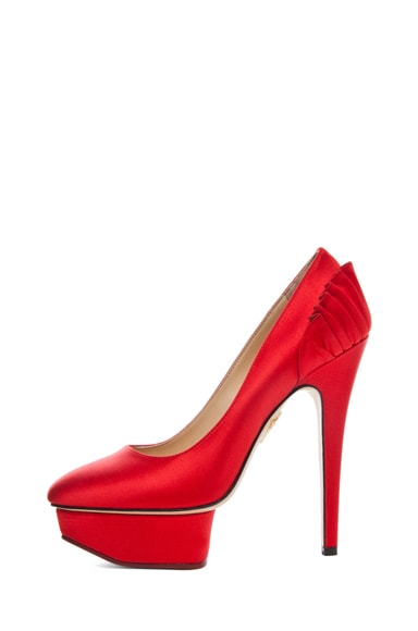 Paloma Signature Court Island Satin Pumps