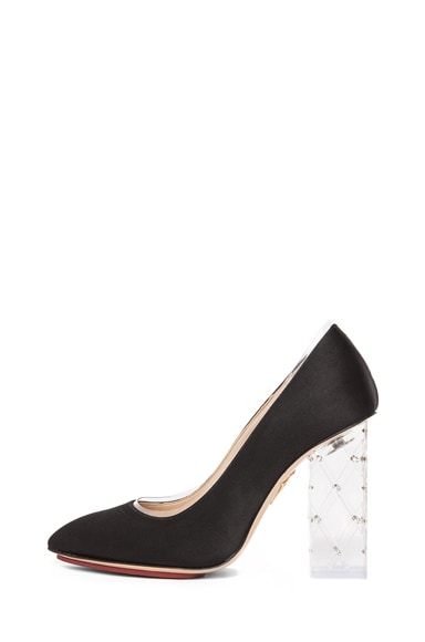 Odette PVC and Crystal Heel Pump