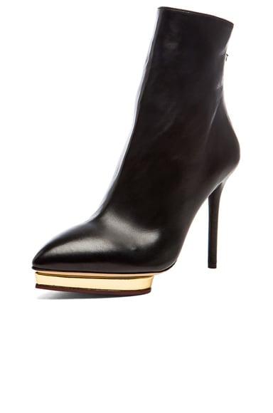 Deborah Nappa Leather Booties