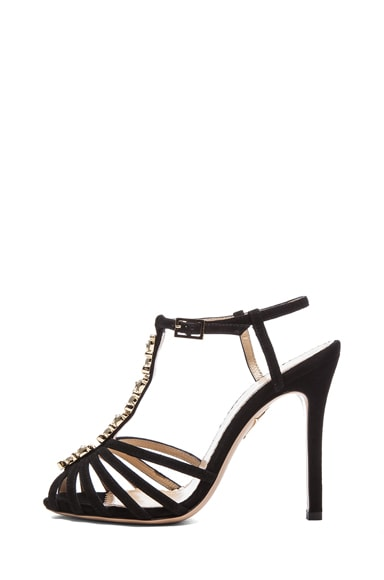 Charlotte Olympia Gummi Bear Sandals in Black & Gold