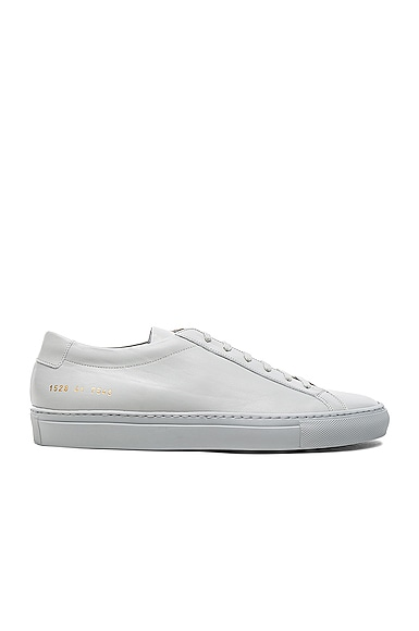Common Projects Original Leather Achilles Low in Grey