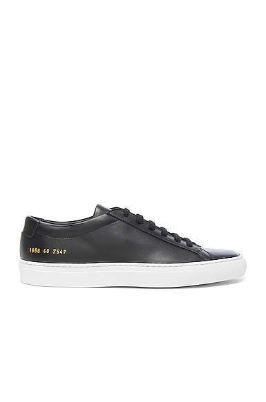 Common Projects Leather Original Achilles Low in Black