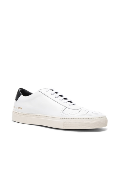 Common Projects Leather Bball Low Retro in White & Black