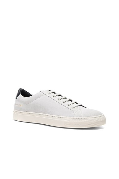 Common Projects Suede Achilles Retro Low in White