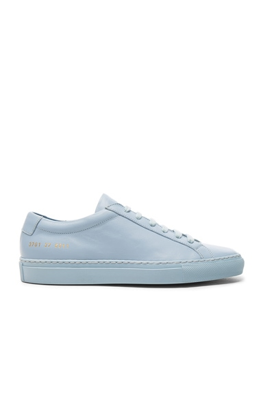 Common Projects Leather Original Achilles Low in Powder Blue