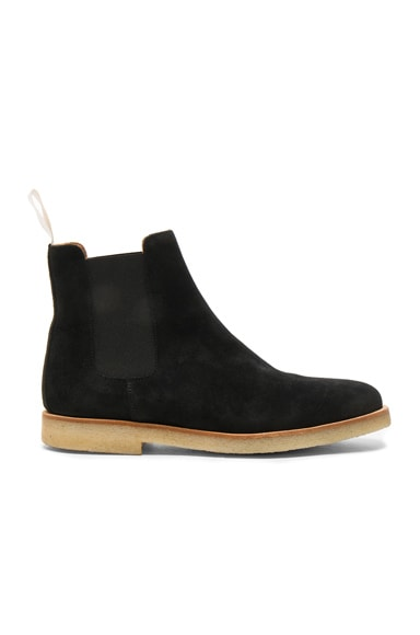 Common Projects Suede Chelsea Boots in Black