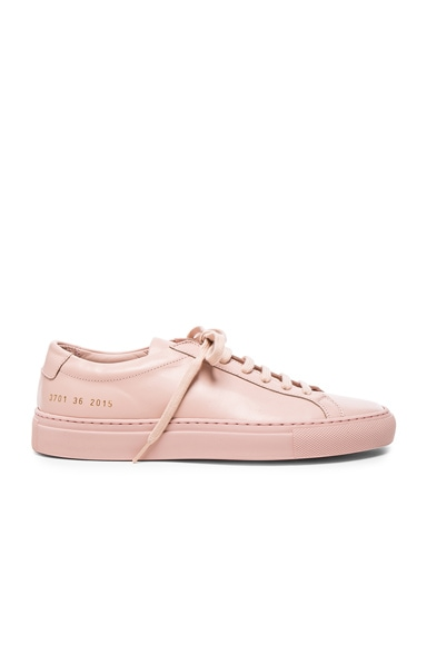 Common Projects Original Leather Achilles Low in Blush