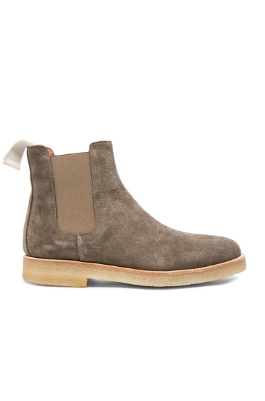 Common Projects Suede Chelsea Boots in Warm Grey