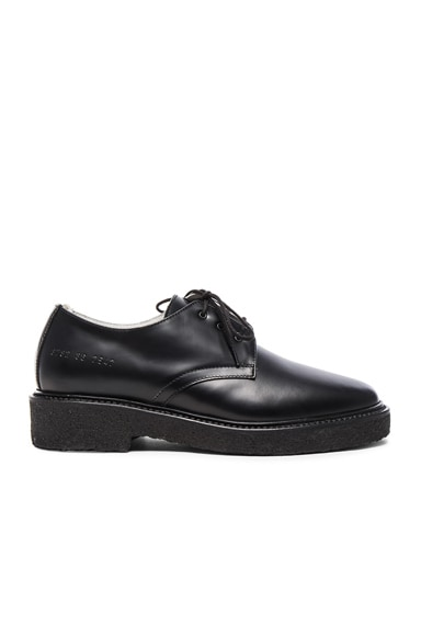 Common Projects Leather Cadet Derbies in Black