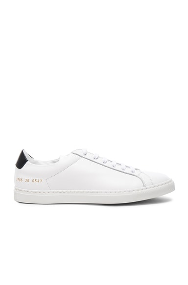 Common Projects Leather Achilles Retro Low in White & Black