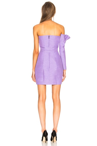 Belted One Sleeve Strapless Dress