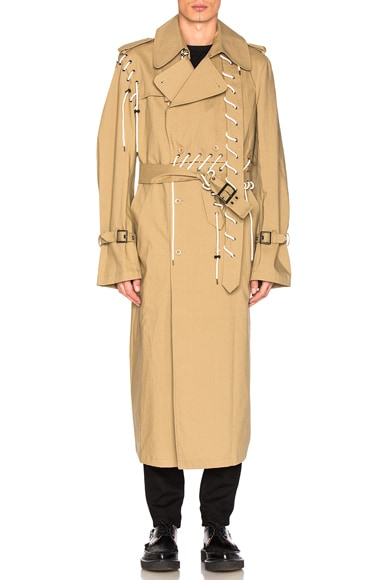 Craig Green Laced Trench in Beige