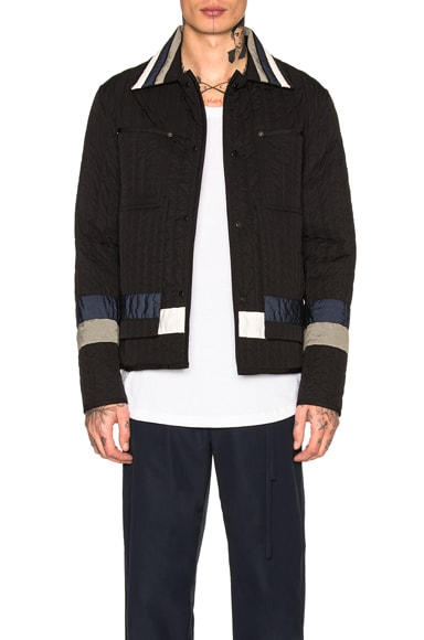 Paneled Quilted Worker Jacket