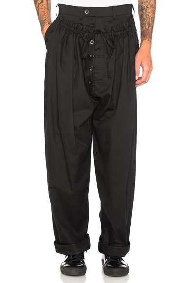 Craig Green Tailored Pajama Trousers in Black