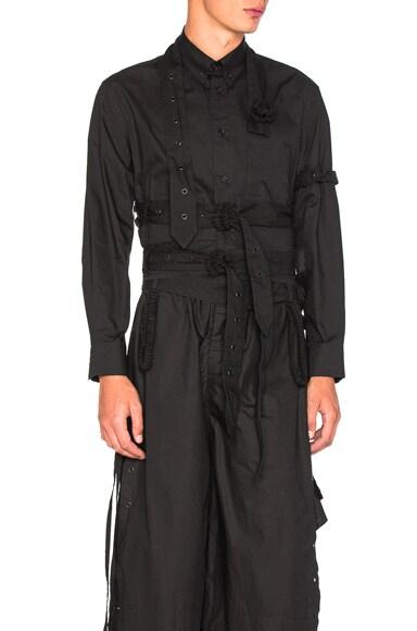 Craig Green Crop Shirt in Black
