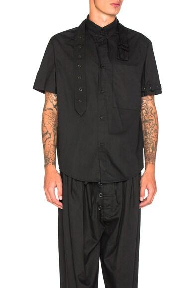 Craig Green Short Sleeve Shirt in Black