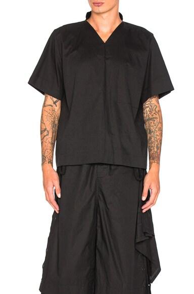 Craig Green V Neck Pajama Top in Black