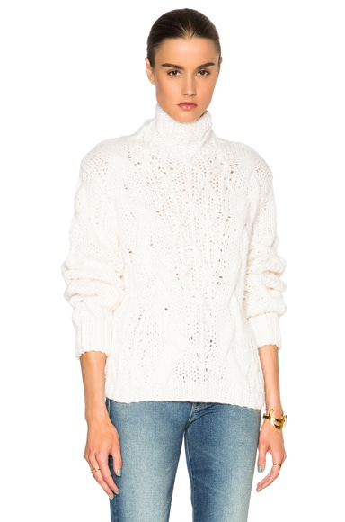 Calvin Rucker Rich Girl Sweater in Ecru