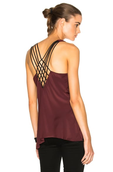 Calvin Rucker Slip Away Top in Deep Ruby