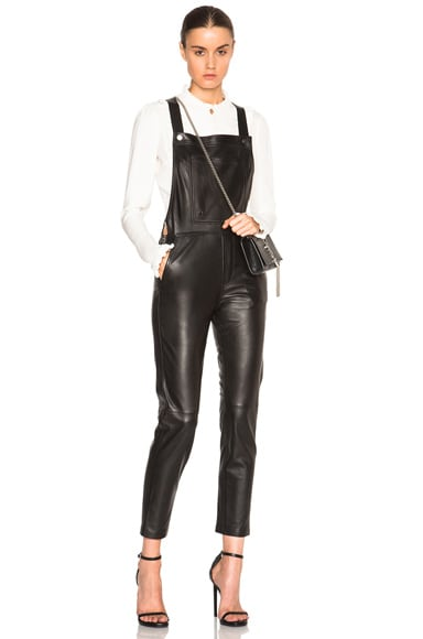 Carolina Ritz Leather 90 Jumpsuit in Noir