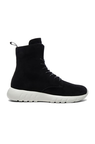CU4TRO Suede Ninja Sneakers in Black Frost