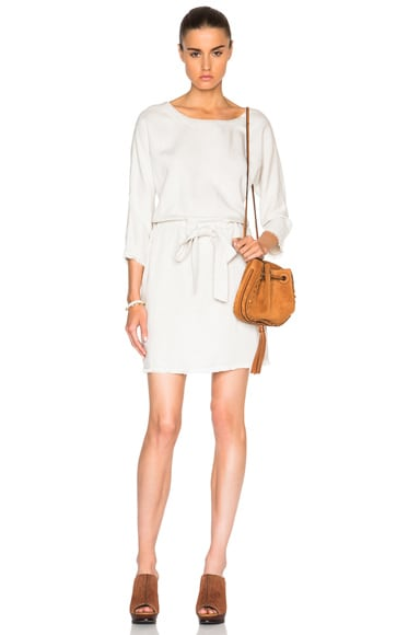 Current/Elliott Cinched Shift Dress in Dirty White
