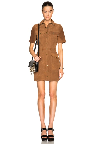 Current/Elliott Trucker Dress in Burnt Nutmeg