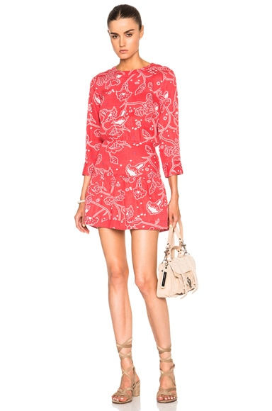 Current/Elliott Tennant Cut Out Dress in Chrysanthemum Bandana
