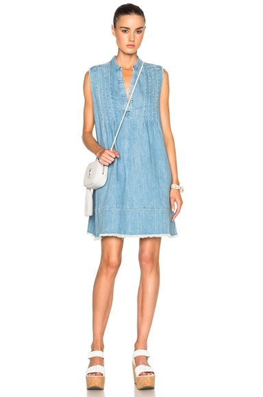 Current/Elliott Sleeveless Tuck Dress in Mid Day
