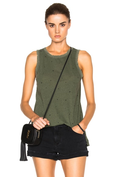 Current/Elliott Muscle Tee in Army Green Falling