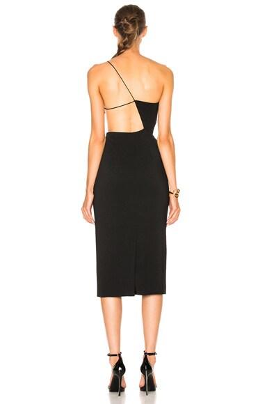 Cindy Asymmetric Open Back Dress