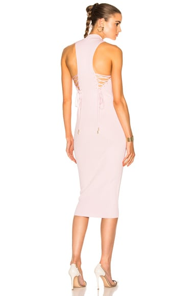 Deep Racer Lace Up Dress