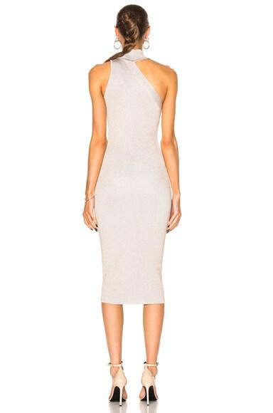 One Shoulder Mock Neck Pencil Dress