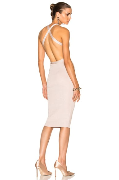 for FWRD Knit Pencil Dress With Crisscross Straps
