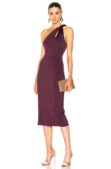 One Shoulder Dress with Twisted Strap