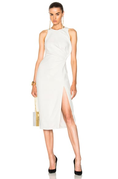 Sleeveless Dress with Crossover Detail