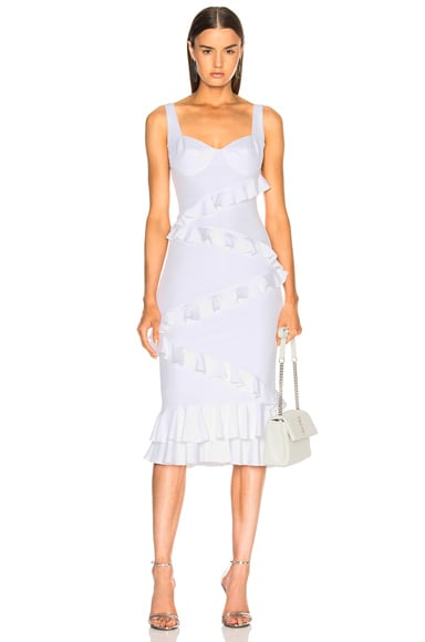 Sandra Lee White Satin Dress