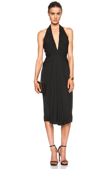 FORWARD EXCLUSIVE Ruched Silk Dress