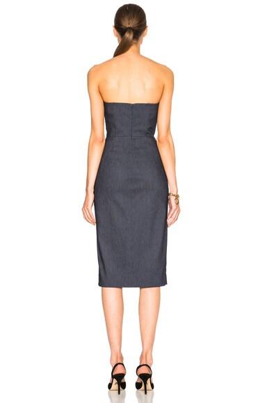 Stretch Denim Strapless Dress