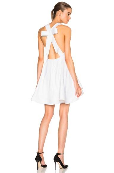 Cushnie et Ochs Bow Back Mini Dress in White