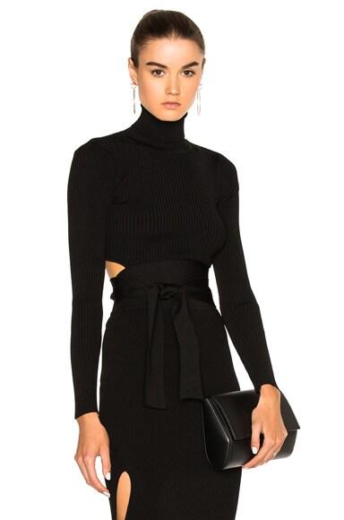 Cushnie et Ochs Turtleneck Sweater in Black