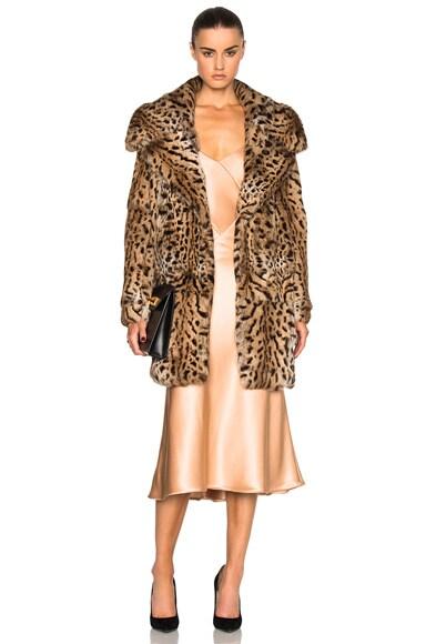 Cushnie et Ochs Rabbit Fur Coat in Leopard