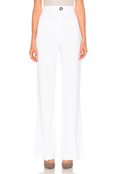 Cushnie et Ochs High Waisted Stretch Viscose Pant in White